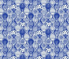 ogee icons fabric by laura_may_designs on Spoonflower - custom fabric