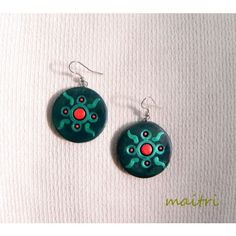 Blue Moon_Contemporary Terracotta Earrings    maitri_crafts@yahoo.com