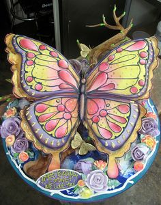 Edible Art | Magical Butterfly by rosebud cakes