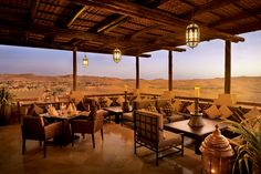 Incredible view from the restaurant #abudhabi #Qasralsarab