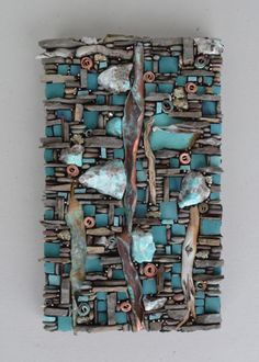 Karen Klassen (Edmonton, AB) is a visual mixed media artist creating wall art & pocket art mosaics using organic and exotic materials from around the world. Mosaic Art Projects, Mosaic Crafts, Glass Wall Art, Stained Glass Art, Stone Mosaic, Mosaic Glass, Mosaic Artwork, Mosaic Mirrors, Mosaic Wall Art