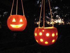 Hanging Pumpkin Idea Candle Lanterns Design