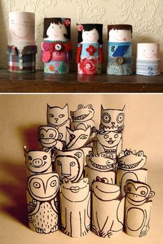 Crafts out of toilet paper rolls creative toilet paper roll crafts diy project toilet paper roll . Paper Towel Crafts, Toilet Paper Roll Crafts, Cardboard Rolls, Cardboard Crafts, Foam Crafts, Kids Crafts, Arts And Crafts, Toilet Paper Roll Art, Recycled Art