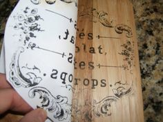 Coastal-Colors: Transferring a Graphic to Wood Using A Woodworker's Transfer Tool