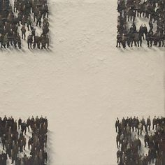 "Picture: ""No se juntan porque creen que son distintos"". Dimensions: 61 cm x 61 cm. Mixed technique."