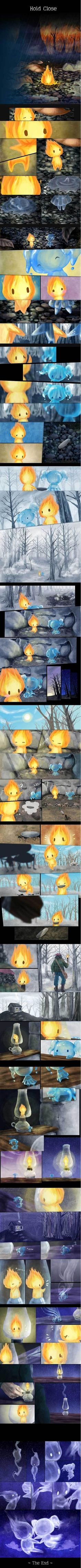 A beautiful love story between Fire and Water