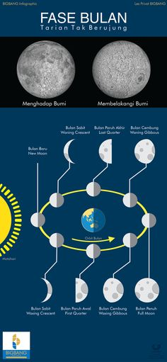 Fase Penampakan Bulan Infografis