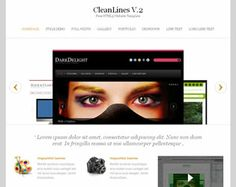 CleanLines V.2 Website Template Web Site Design Arizona| #WebDesignArizona #webdesign #Website