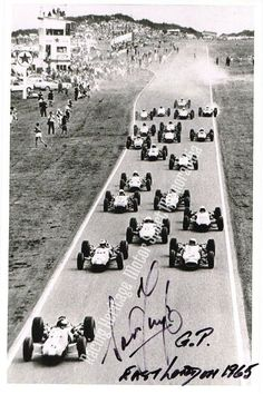 Sam Tingle Autographed image.  1965 South African Grand Prix  East London South Africa.   He was a racing driver from Rhodesia.  Price $29