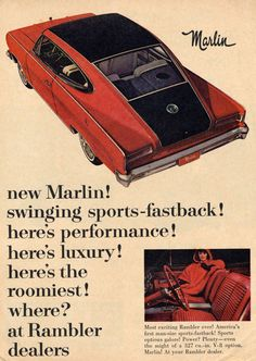 1965 amc marlin advertisement | old car ads home | old car brochures | old car manual project ...