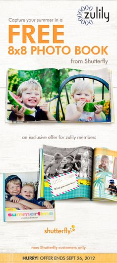 Click this pin to create your free #scrapbook from zulily and Shutterfly. Not a #zulily member yet? Join today