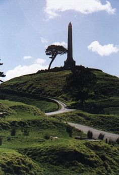 One Tree Hill, Auckland New Zealand.  Apparently, the tree in this picture has since been cut down
