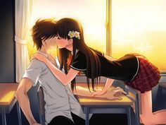 anime kissing - See this image on Photobucket.