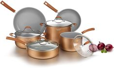 PaidAd This is NOT the case with the better copper cookware merchandise. Since this material is such an excellent conductor, the thermal power simply travels to all components of the underside of the pan with a close to equal distribution of temperature. A second, and also essential part of copper's superior cooking is it's ability to unfold out the warmth to all components of the pan evenly. This analogy holds true when evaluating forged iron to copper building. Your heavy iron pans have… Cookware Set, Stainless Steel Griddle, Copper Canisters, Healthy Cooking, Healthy Recipes, Cookware Accessories, Pots And Pans Sets, Pan Set