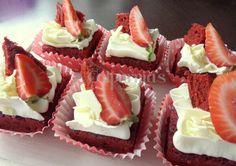 Cake bars Red velvet, fresas y chocolate blanco
