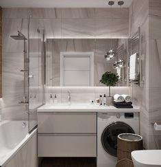 125 contemporary bathroom design ideas to enhance your home 9 Contemporary Bathroom Designs, Bathroom Design Small, Bathroom Layout, Simple Bathroom, Bathroom Interior Design, Modern Bathroom, Bathroom Ideas, Laundry In Bathroom, Bathroom Storage