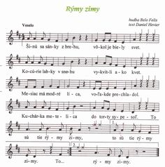 rýmy zimy Sheet Music, Classroom, Education, Sport, Manualidades, Class Room, Deporte, Sports, Onderwijs