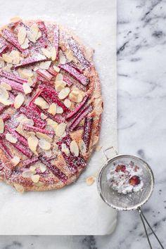 ... rhubarb and almond tart ...