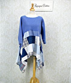 Bohemian Plus Size 1X Repurposed Clothing by RepurposeCouture