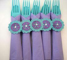 Little Mermaid Party Silverware, Disney Little Mermaid Cutlery, Ariel Party Flatware, Disney Princess Birthday, Mermaid, Utensils Napkin by EJsExquisiteTreasure on Etsy https://www.etsy.com/listing/268585200/little-mermaid-party-silverware-disney