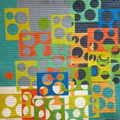 "Window Spots quilt kit, 25 x 25"", by Karla Overland | Cherrywood Fabrics"