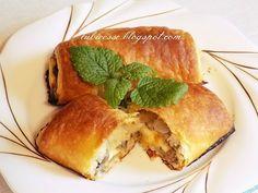 Paszteciki z pieczarkami i serem z ciasta francuskiego