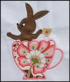 INSTANT DOWNLOAD Tea Party Applique designs by DBembroideryDesigns, $3.99