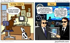 Then and Now Comic, The Joy of Tech