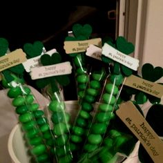 St. Patrick's Day treat! Just love those lil cellophane treat bags from Stampin' Up!!