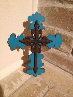 Small Wooden Wall Cross by CutieCrosses on Etsy, $18.00