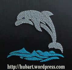string art dolphin