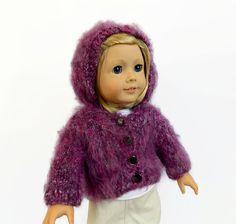 Purple Doll Sweater Doll Sweatshirt 18 Inch by PreciousBowtique