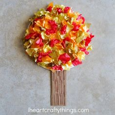 Fall time wouldn't be complete in my house without a fun <em class=short_underline>  Fall Tree Craft </em>! It's something we look forward to every year. When I found out the kids craft stars craft challenge was all about tissue paper this month I was excited to dive in with the beautiful fall colors of red, orange, yellow and gold. We made this gorgeous <b>  Tissue Paper Fall Tree Craft </b>. I love how scrunching up and adding tis...