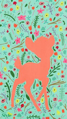 This cute bambi spring background is perfect and adorable