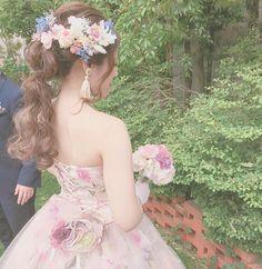 イマドキ愛され花嫁に変身!ヘアスタイル大特集【シーン別】 Wedding Hairstyles For Long Hair, Bridal Hairstyle, Strapless Dress, Hair Beauty, Flower Girl Dresses, Long Hair Styles, Wedding Dresses, Cute, Fashion