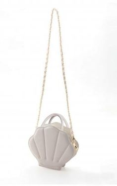 Mermaid Whimsy Sea Shell Shaped Purse in Pearl White