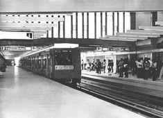 anden del metro Tasqueña en los 70s en Cd. de Mexico