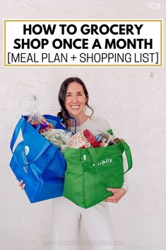 Cheap Grocery List + Meal Plan for Family On A Budget Trying To Grocery Shop Onc. - Cheap Grocery List + Meal Plan for Family On A Budget Trying To Grocery Shop Once A Month – The Confused Millennial # Cheap Grocery List, Shopping List Grocery, Shopping Hacks, Toddler Home Activities, Healthy Groceries, Groceries Budget, Family Meal Planning, Family Budget, Money Saving Tips