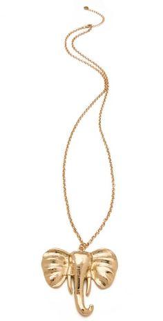 elephant necklace -