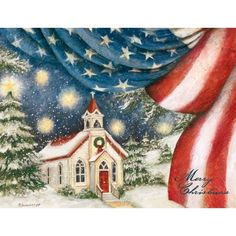 An American Christmas Christmas Cards | Artwork by Susan Winget | Made by LANG