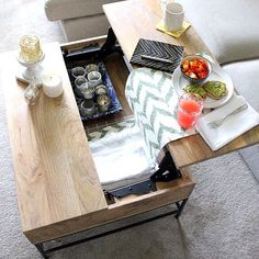 Double Storage Coffee Table Westelm Coffee Tables By Chloe Rein - West elm industrial storage coffee table review