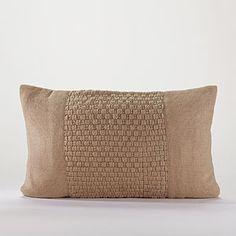 Burlap Patch Lumbar Throw Pillow | World Market