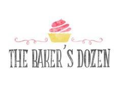Cupcake Logo Design, Bakery Logo, Baking Logo, Food Blog, Baking Blog,  Watercolor Cupcake, Bakers Logo