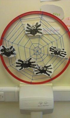 Filled with handprint spiders Halloween Scavenger Hunt, Halloween Games For Kids, Halloween Crafts, Easy Halloween, Halloween Printable, Halloween Ghosts, Games To Play With Kids, Games For Teens, Family Party Games