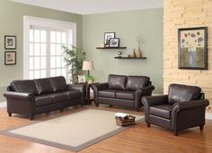 Brown Leather Sofa Set For Living Room With Dark Hardwood Floors Adorable Brown Sofas In Living Rooms Decorating Inspiration