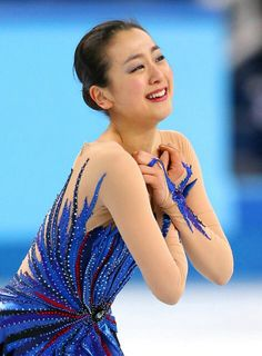 Mao Asada (Japan) reacting to her performance after her Free Skate at the 2014 Olympics in Sochi, Russia. Mao would win 3rd in the Free Skate bumping her up from 16th after the Short to 6th place overall.