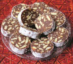 salam-de-biscuiți Bulgarian Desserts, Romanian Desserts, Bulgarian Recipes, Romanian Food, Bulgarian Food, Yummy Treats, Sweet Treats, Cookie Recipes, Dessert Recipes