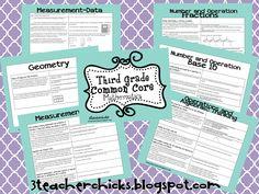 3 Teacher Chicks: It's Here! Common Core MATH!