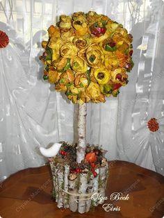 Декор предметов Поделка изделие Праздник осени Плетение Осенний декор Гипс…