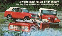 Ford Bronco первого поколения, Jeep CJ и безвозвратно вымерший International Harvester Scout